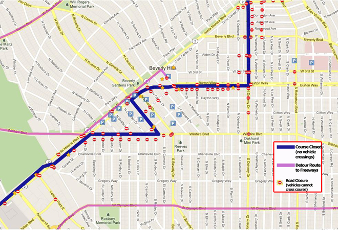 Map courtesy of L.A. Marathon