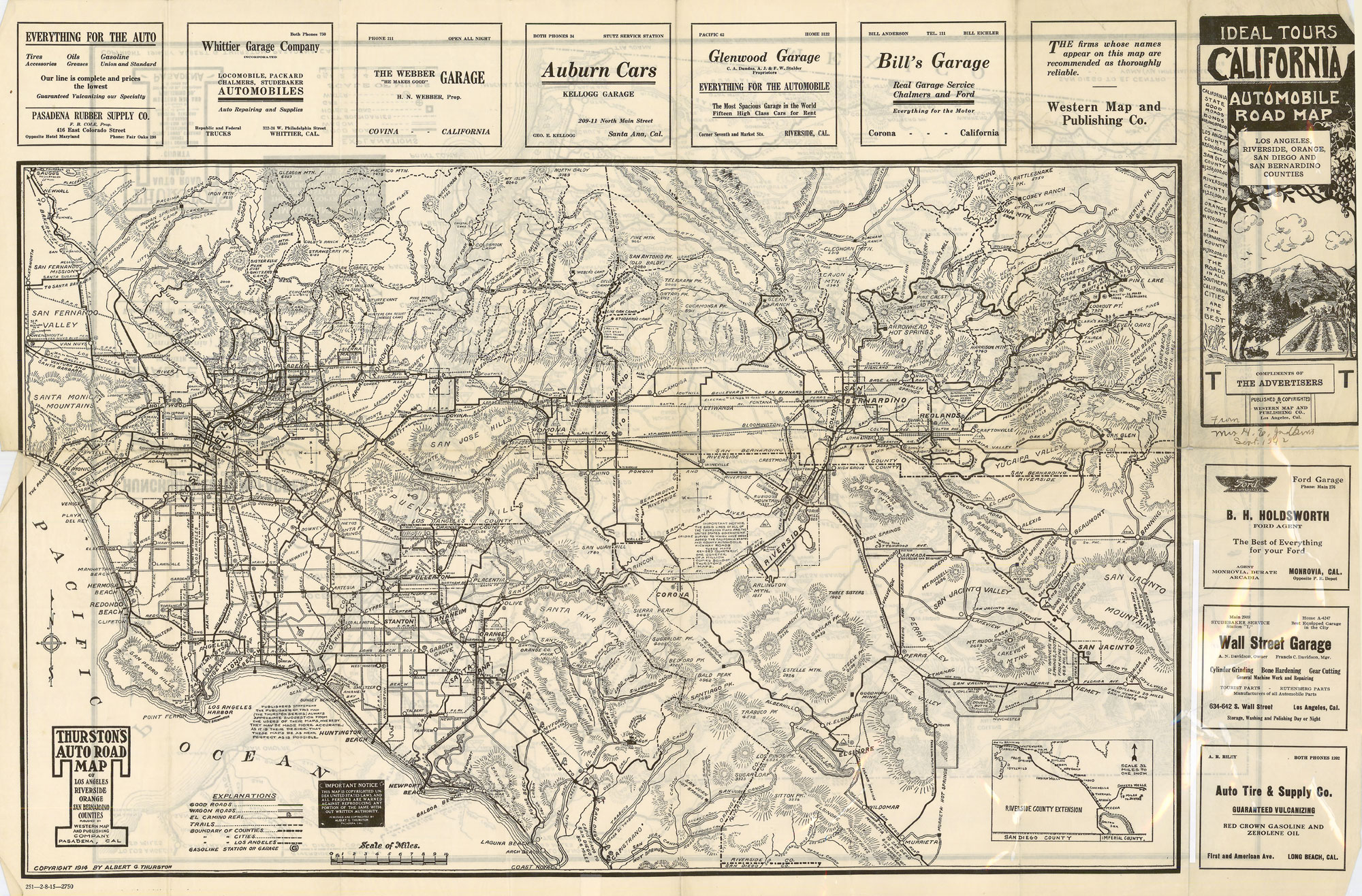 citydig an auto road map from when la was traffic free