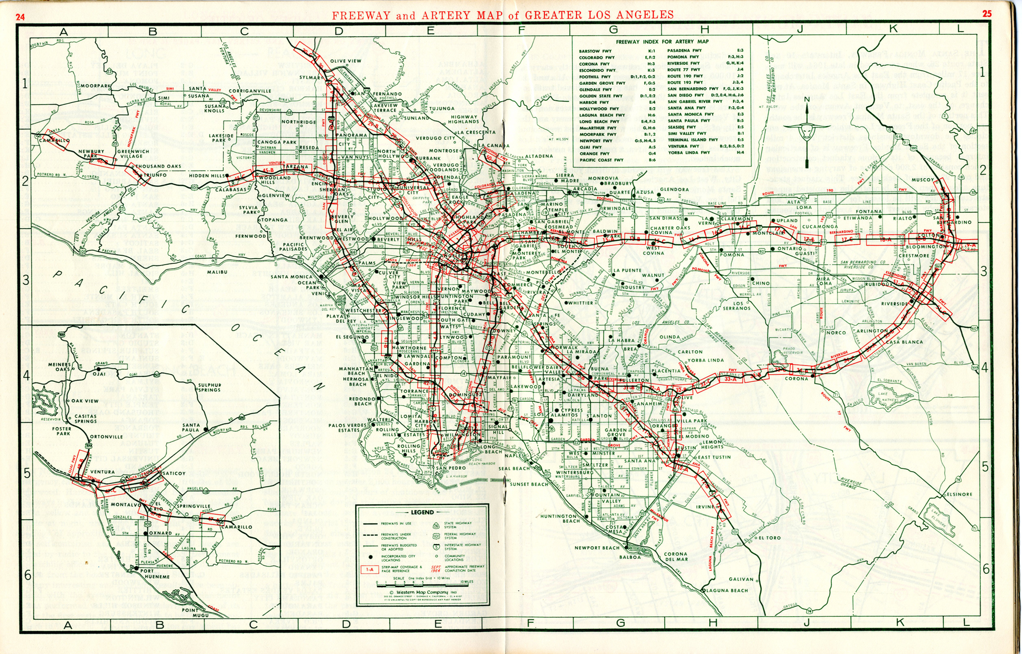 A Freeway Atlas From Before You Could Say You Took The To The - Los angeles freeway system map