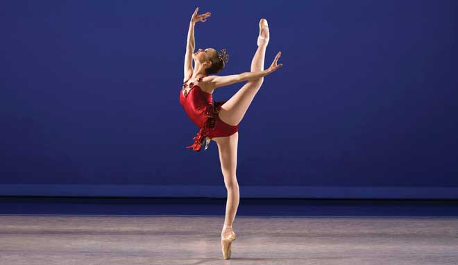Credit: Allynne Noelle in George Balanchine's Rubies. Photocomposition: Reed Hutchinson & Catherine Kanner