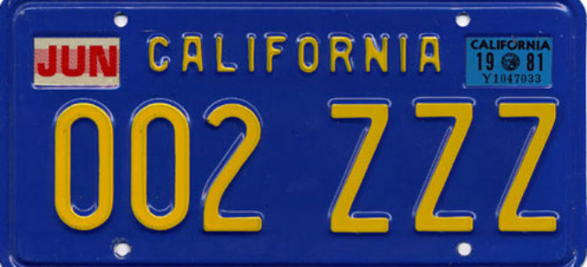 the colorful history of california license plates los angeles magazine. Black Bedroom Furniture Sets. Home Design Ideas