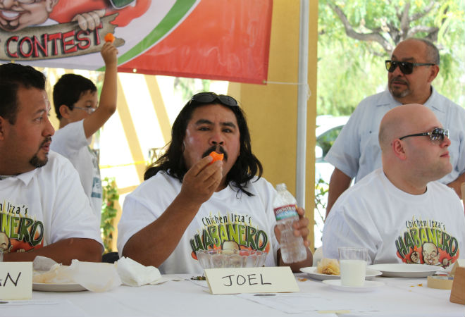 A scene from last year's habanero eating contest