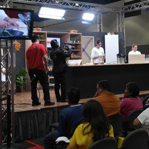 Cooking demo at Mexico Food Fair