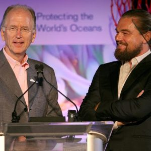 Oceana CEO Andrew Sharpless and Leonardo DiCaprio