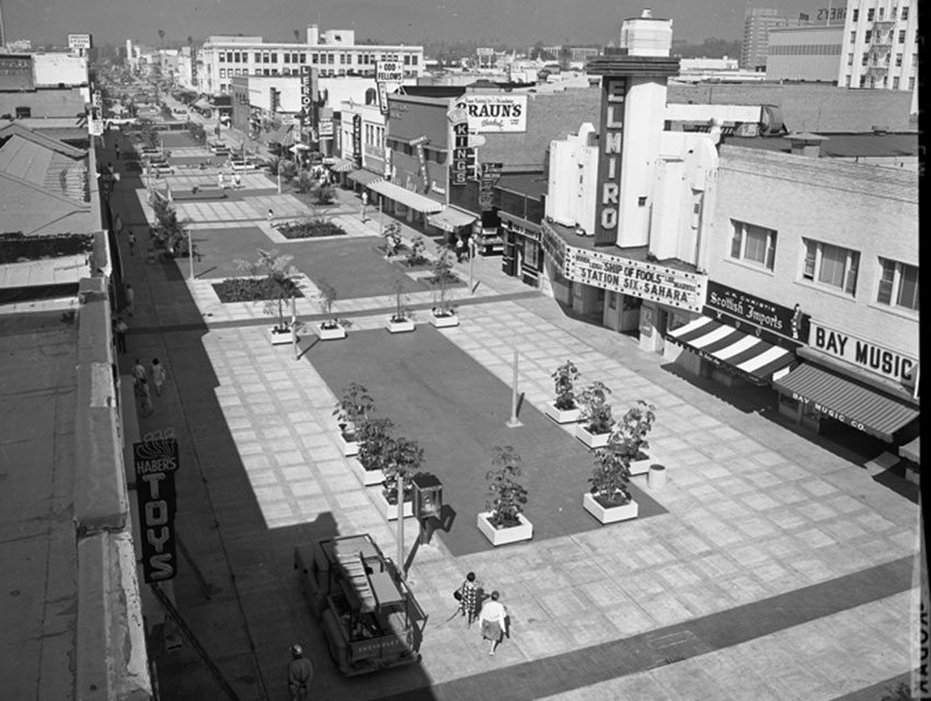 The Third St. Promenade during the '60s.