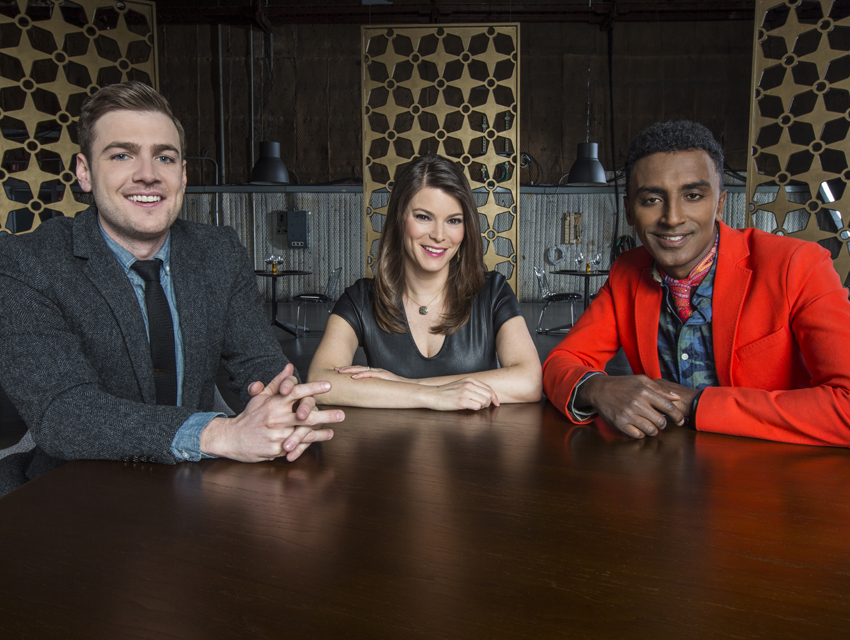 Max Silvestri, Gail Simmons, and Marcus Samuelsson of the Feed