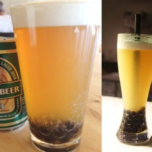 Boba Shandy at Pine & Crane | Green Tea Heineken at Boba 7