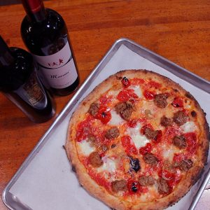 Pizza and wine pairing at Desano's