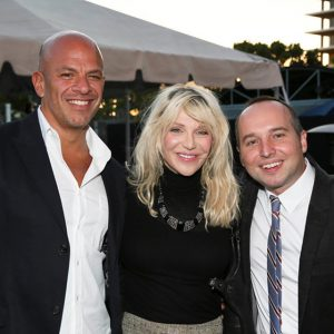 Mark Subias, Courtney Love and playwright Jordan Harrison