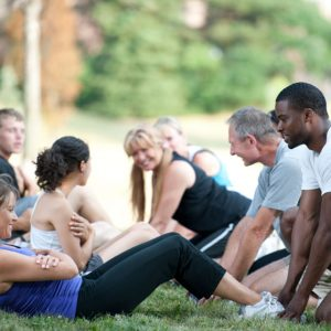 L.A. Beach Fit holds workout classes in Silver Lake Meadow