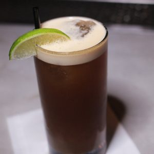Murph's Law: Bonded bourbon, Amaro Averna, ginger, honey, lime, SanTan Hefeweizen