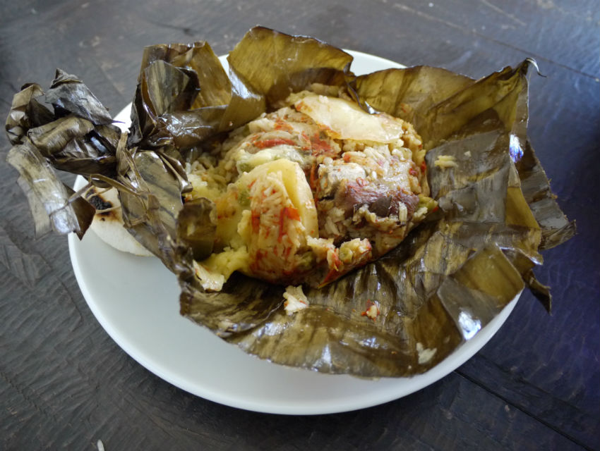 Tamal Tolimense at Sabor Colombiano