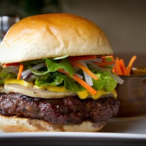 Banh mi burger at Bachi Burger