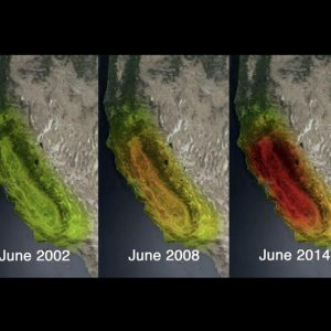 Observations of declining water storage in CA as seen by NASA