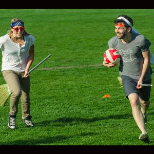 People Playing Quidditch