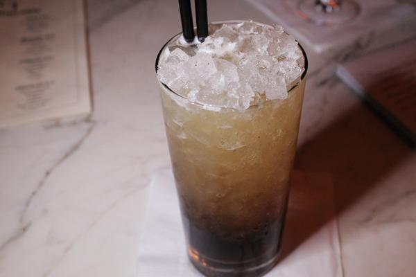 Off-menu Mind Eraser: vodka, Kahlua, Stiegel Radler
