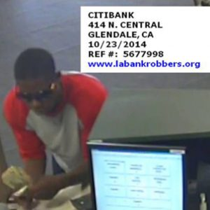 Glendale bank robbery suspect
