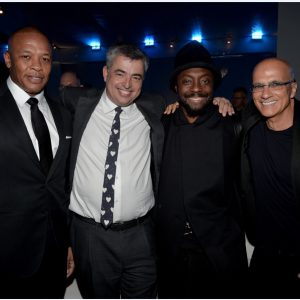 Dr. Dre, Eddy Cue, will.i.am, and Jimmy Iovine