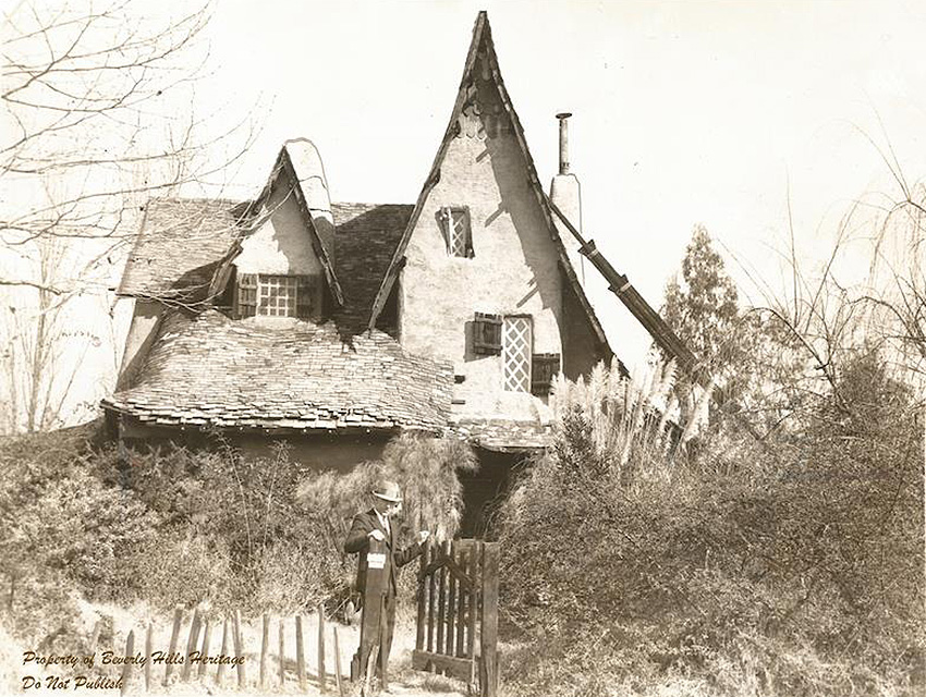 Ward Lascelle outside The Witch's House.