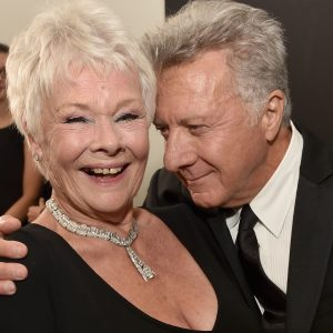 Dame Judi Dench and Dustin Hoffman at the Brittania Awards