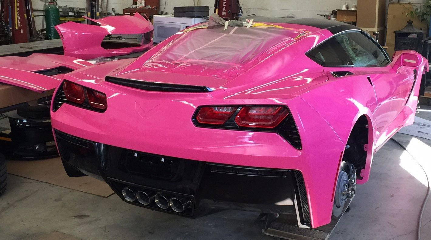 Little Quot Heroine Pink Quot Corvette Angelyne S Got A Brand New