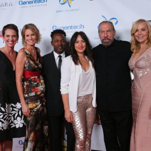 Hollye Jacobs (Gala Co-Chair), Kisa Heyer (DF Exec. Dir), David Ryan Harris, KT Tunstall, John Paul DeJoria, Eloise DeJoria