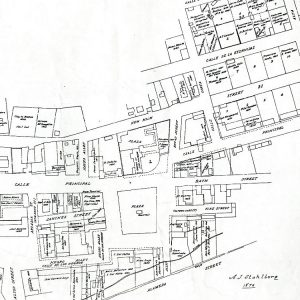 Map of the Plaza, A.J. Stahlberg, 1876