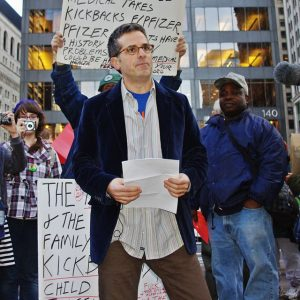 Jonathan Lethem at Occupy Wall Street in 2011