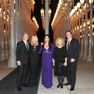 Michael Govan, Frida Giannini, Eva Chow, honoree Barbara Kruger, and honoree Quentin Tarantino at LACMA's 2014 Art+Film Gala Presented by Gucci