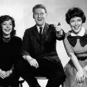 Mike Nichols (middle) with Elaine May and Dorothy Loudon (right)