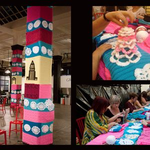 the Grand Central Market gets yarn bombed