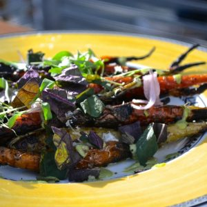 Roasted carrots at Commissary