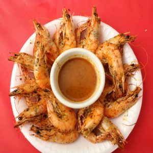Lemon-pepper shrimp at El Cristalazo