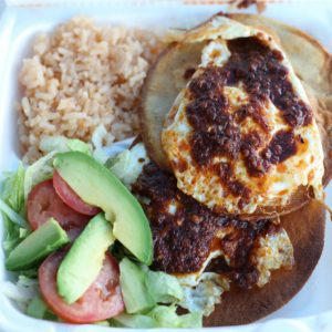 Huevos rancheros at Taco Alacran