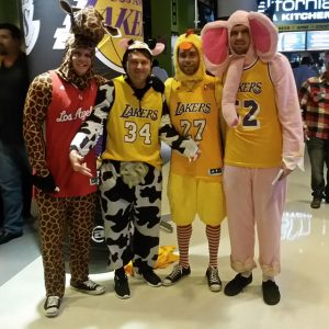 Fans at Staples Center on Halloween night