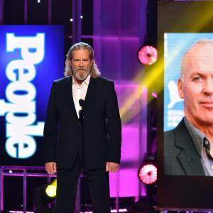 Jeff Bridges presented the Movie Performance of the Year award to Michael Keaton