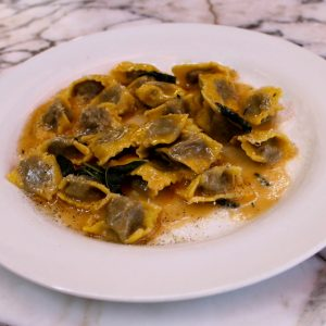 Agnolotti with black truffles is on Cecconi's New Year's Eve menu.