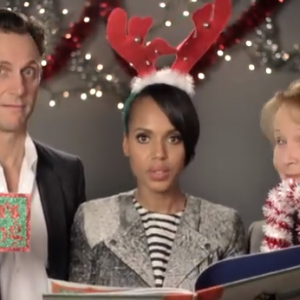 Tony Goldwyn, Kerry Washington, and Kate Burton