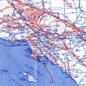 A 1980 map of L.A.'s earthquake faults. And this isn't even all of them.