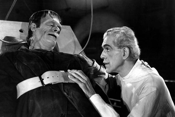 "Boris Karloff stars in ""Frankenstein"""
