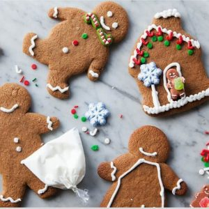 Good Eggs has Sweet Beginnings decorated gingerbread cookies for the holidays.