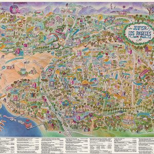 Jewish Los Angeles, The Artistic Touch/ Bill Block cartographer, 1990