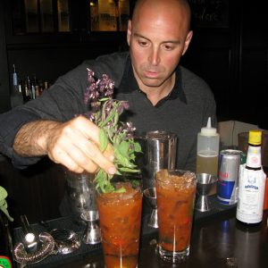 The start of something great: Matthew Biancaniello at Library Bar, 2009.