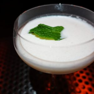 Mint Chocolate Chip: Creme de menthe, housemade cacao distillate, Strauss Family cream