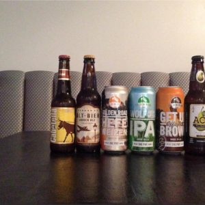 Shu-Bar has craft beers on draft and a wide selection of bottles and cans.