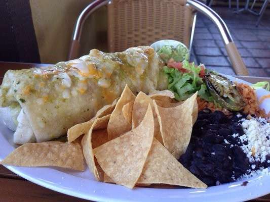 Benny's Tacos and Chicken Rotisserie serves wet burritos.