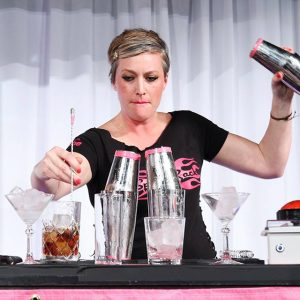 La Descarga bartender Christine Wiseman competed at last year's Speed Rack in San Diego.