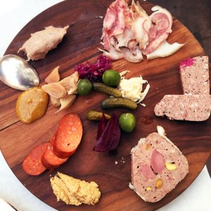The Assiette de Charcuteries is just one of the decadent selections on Terrine's brunch menu.