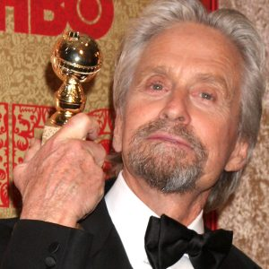 Michael Douglas at the HBO party in 2014