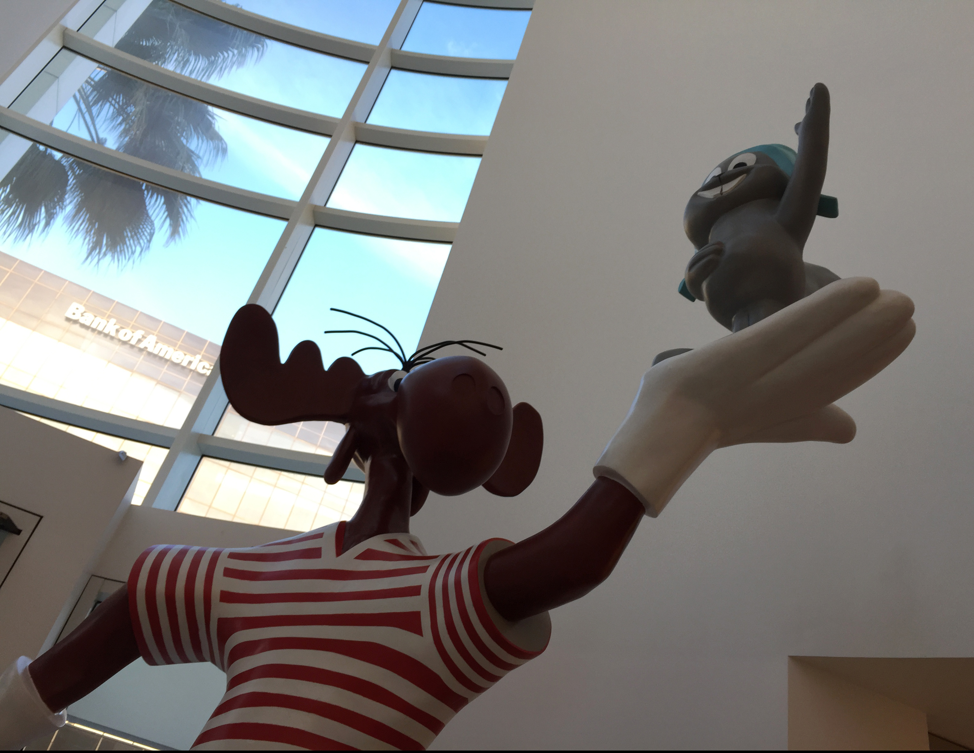 Statue of Rocky & Bullwinkle that lived on the Sunset Strip from 1961-2013